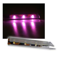 4er SET LED Glasbodenbeleuchtung 66mm Pink