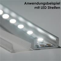 Eloxiertes LED Aluminium-Profi in 1m Länge