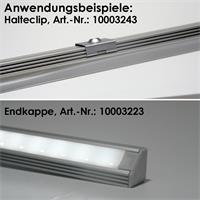 1m Aluminium-Eckprofil mit milchiger Abdeckung