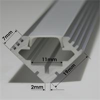 1m langes Aluminium-Eckprofil für LED-Streifen