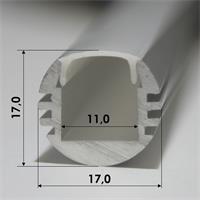 Eloxiertes Aluminiumprofil mit 17x17mm