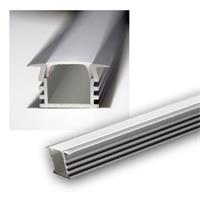 LED aluminum profile PL-Std DOU, 1m, OPAL