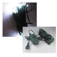 LED-Lichterkette mit 100 LEDs, pur-weiß für Innen