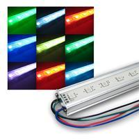 SMD LED Lichtleiste RGB - Fullcolor 50cm Aluprofil