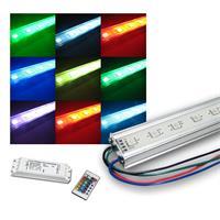 SET 4x50cm SMD LED-Licht-Leiste mit Zubehör RGB