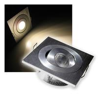 LED Einbaustrahler | Aluminium | eckig | warmweiß | 12V/3W