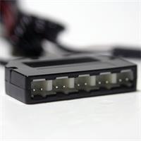 Steckverbinder aus Kunststoff mit 5 Steckplätzen für LED Leuchten