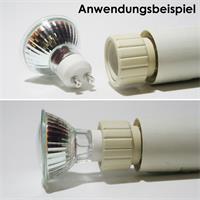 GU10 Strahler passend für Lampensockel E27