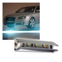 LED-Glasbeleuchtungsset chrom, kaltweiß 4x2er Set