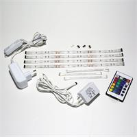 LED Komplettset bestehend aus 4 RGB Streifen, Controller und Netzteil