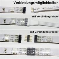 LED RGB Streifen mit Verbindungskabeln und Verbindungsstecker