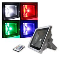 LED Flutlichtstrahler 50W 230V RGB-Fluter IP44
