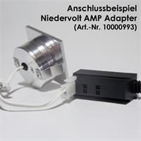 LED Einbaustrahler für 12V DC mit nur 1W Verbrauch und Kunststoffsteckverbinder