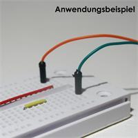Verbinder zum Aufbau von lötfreien Schaltungen in Steckboards