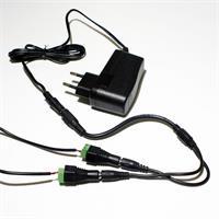 LED Kette mit 10 LED Modulen und Anschlusskabel für 12V
