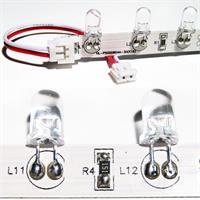 Verbindungskabel mit Steckkontakten zum Verbinden von 2 Streifen
