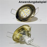 Befestigung vom MR11 Leuchtmitteln via Sprengring