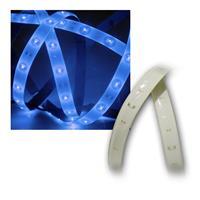 LED Lichtband 1,2m Blau, PCB weiß, 12V DC, IP44