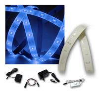 LED Strip Light 4x 1.2m blue with accessories
