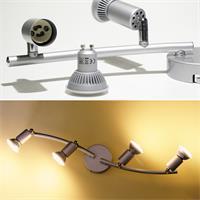 LED Deckenleuchte aus Aluminium für gezielte Lichtakzente