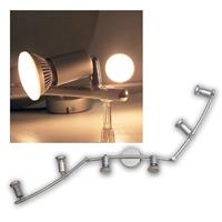 "1x LED spotlight ""Nancy"" 230V, silver, warm white"