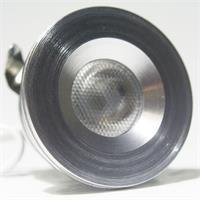 12V LED Leuchtmittel rund in einem glänzendem modischem Aluminiumgehäuse