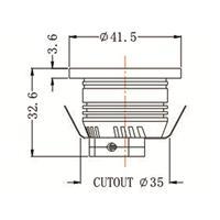 LED Downlight MR11 für 12V DC mit nur ca. 3W Verbrauch
