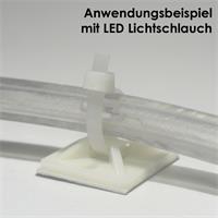 Klebesockel zur Befestigung von LED Streifen oder LED Lichtschläuchen