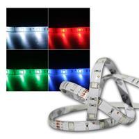 RGB Streifen 5m, 150 LEDs mit Steckverbindern, 12V