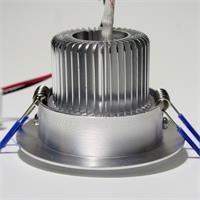 LED Einbaustrahler schwenkbar mit ca: 70mm Einbau-Ø und 150mm Einbau-Tiefe (Abluft)