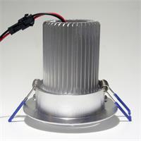 LED Einbaustrahler schwenkbar mit ca: 70mm Einbau-Ø und 76mm Einbau-Tiefe (+ Abluft)