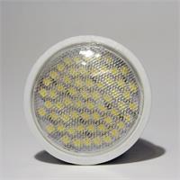 LED Leuchtmittel GU10 in Halogenoptik mit 60x breitstrahlenden 3528 SMD LEDs