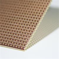 Experimentierplatine mit einseitiger Kupferbeschichtung