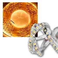 5m LED Lichtband 120LED/m Golden-Weiß, PCB weiß