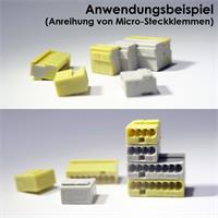 Dosenklemmen mit integrierter Nut- und Federverbindung zum Verbinden
