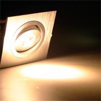 LED Einbauspot 230V mit 1x ultrastarken Hochleistungs-LED und ca. 80lm Lichtstrom