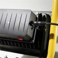 LED Aussenstrahler für Betrieb über Akku oder 230V Netzanschluss