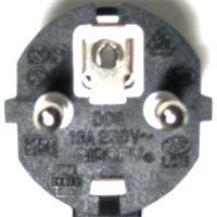 Stromanschlusskabel mit Schutzkontakt-Winkelstecker