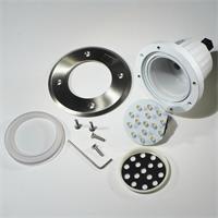 LED Bodeneinbauspot IP67 mit trittfester Edelstahl-Frontplatte und Verglasung