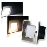 LED wall/floor downlight | square | 230V | stainless steel