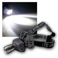 Stirnlampe mit fokussierbarer 1W LED, Helmleuchte
