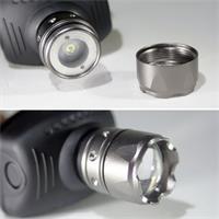 Stirnlampe mit Hochleistungs-LED und Kopf/Arm-Band