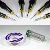 batteriebetriebener Profi-Lötkolben inklusive 6 Präzisions-Schraubendreher