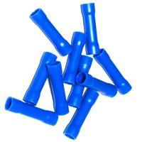 Crimpverbinder mit blauer Kunststoffummantelung, innen verzinnt