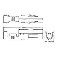 Abmessungen des 4-poligen Steckers für Floppy-Laufwerke