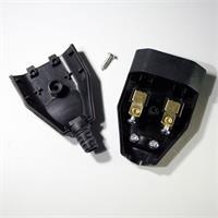 230V Kupplung mit Zugentlastung und Schraubklemmen