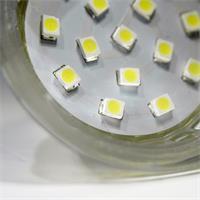 LED Strahler MR16 mit 15 hellen SMD LEDs und bündig abschließender Glas-Cover-Front