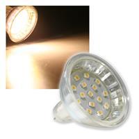 """MR16 Strahler """"H10 SMD"""" 15 LEDs warmweiß 50lm 120°"""