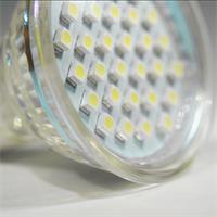 LED Glühbirne GU10 in Halogenoptik mit 30 lichtstarken 3528 SMD LEDs