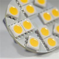 LED G4 12V rund mit 12 starken 5050 SMD LEDs der Ersatz in Wohnmobilen